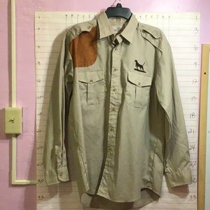 REDHEAD men's button down shirt sz M khaki